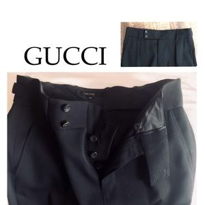 Auth GUCCI Vintage Maxi Skirt Black